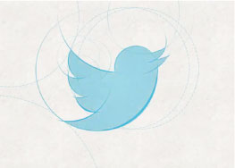 image of twitter logo sketched